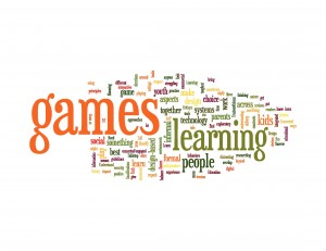 games and learning word cloud